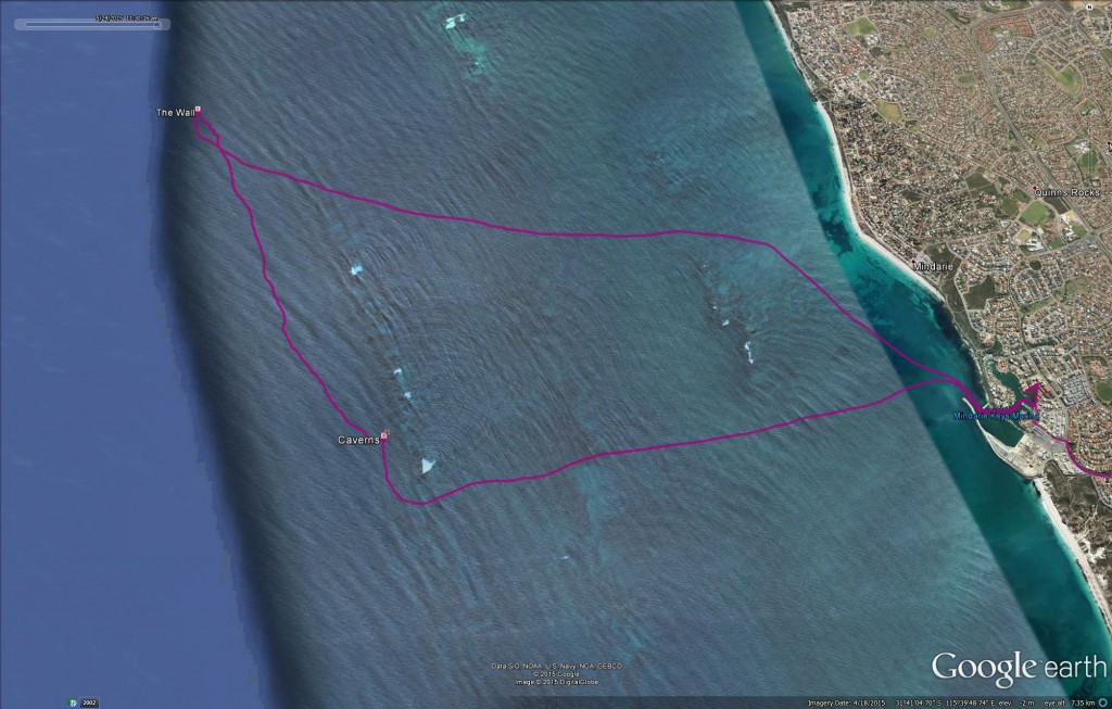 Mindarie Keys Marina Boat Dive Map