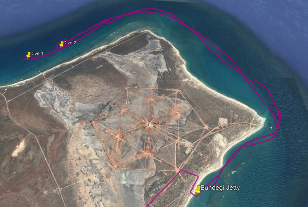 Ningaloo Reef Double Dive Map`